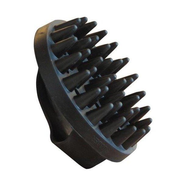 Gummistrigle lange sorte knopper