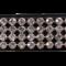 Karlslund Pandebånd m. 4 rækker krystaller
